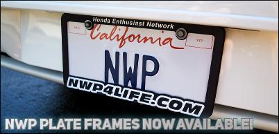 Honda plate frames